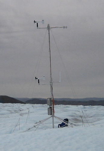 Ice and Climate : Automatic Weather Stations on glaciers